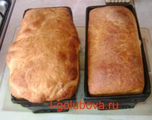 белый хлеб в форме